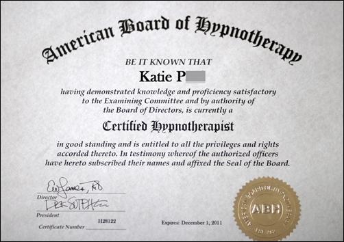 hypno certification